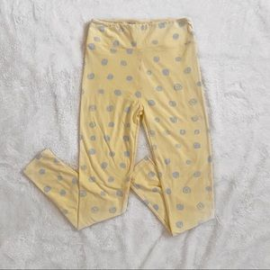 LuLaRoe Yellow Polka Dot Leggings